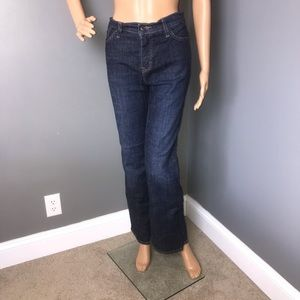 Levi Red Tag Jean's Dark Wash Blue Size 10 Bootcut